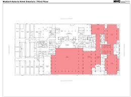 nyc floor plans public hearing held on interior designations for waldorf astoria