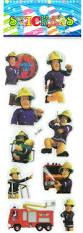 shop 3pcs wall decor fireman sam cartoon stickers