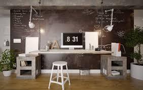 espace bureau coin bureau bien pensé pour espace limité multi luminaire