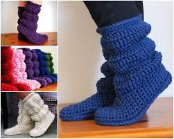 womens slipper boots nz free knitted crochet slipper boots patterns