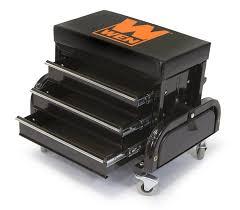 wen 73015 garage glider rolling tool chest seat amazon com