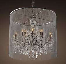 Industrial Crystal Chandelier Vaille Crystal Grey Large Chandelier Large