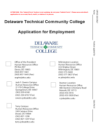 employment application delaware technical community free download