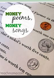 money poems money songs fun ways to teach kids about money