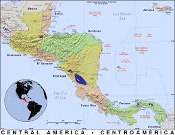 Map Of Middle America by Central America Public Domain Maps By Pat The Free Open Source