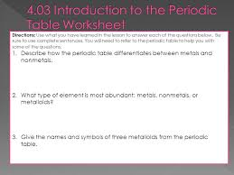 assignment 4 03 introduction to the periodic table ppt video