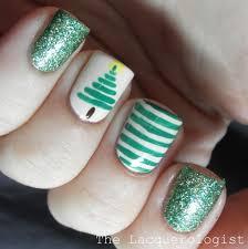 christmas nail art 1 stripe christmas tree u2022 casual contrast