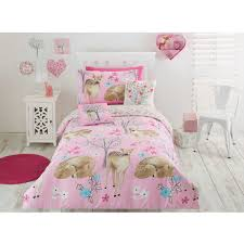 house u0026 home kids deer quilt cover set double bed big w