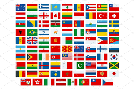 Flags Countries G8 Countries Flags Objects Creative Market
