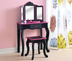 Pink Vanity Set Just Home Kid U0027s Vanity Set With Mirror U0026 Stool Big Lots