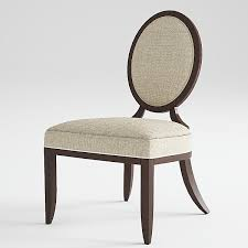 baker oval x back dining side chair encircle dining table 3d model