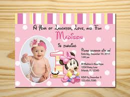 printable minnie mouse first birthday invitation by taowithlove