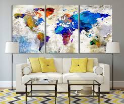 Large Wall World Map by Extra Large Wall Art Canvas Print Shop