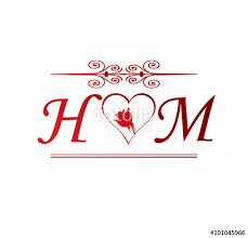 H M Hm Initial With And Stock Image And Royalty