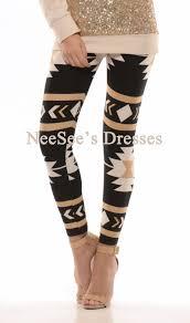 black beige tan aztec print leggings affordable trendy and