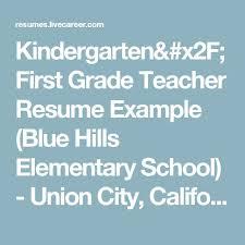 First Grade Teacher Resume 26 Best Resume Writing Help Images On Pinterest Resume Writing