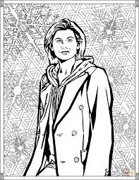 thirteenth doctor coloring page free printable coloring pages