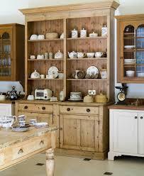 furniture in the kitchen original unrestored antique pine china cabinet bookcase