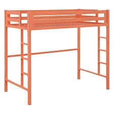 walker edison bentley twin metal loft bed walmart com