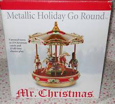 mr christmas mr christmas carousel ebay