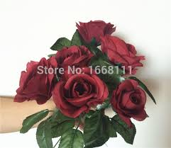 burgundy roses 80pcs burgundy flower 30cm wine color roses for wedding
