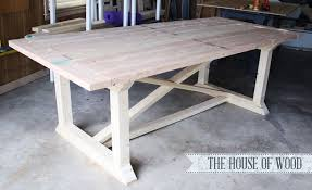 ana white rekourt dining table diy projects in wood dining table