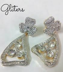 best earrings designer american diamond earrings gliters shweta fashion best