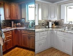 Modernizing Oak Kitchen Cabinets Updating Oak Kitchen Cabinets Before And After How To Update Honey