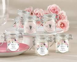 bridal shower tea party favors personalized garden glass favor jars set of 12 my