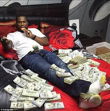 50 cent has more than 64m in assets and 10 million in checking