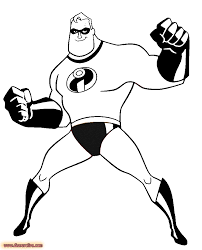 disney the incredibles coloring pages download and print for free