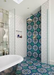 turquoise bathroom floor tiles clad in green and blue mosaic floor tiles this charming bathroom