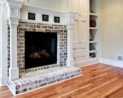 Whitewashing A Fireplace by Thin Brick For Around Fireplace Fireplace Mantel Ideas On A