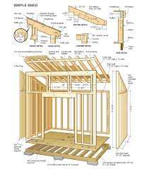 Gable Barn Plans 28 Roof Designs For Sheds Some Simple Storage Shed Designs