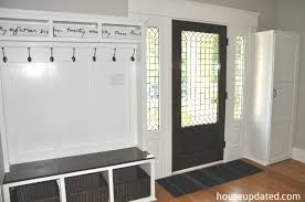 Bench With Baskets Entry Storage Bench Hooks Baskets More House Updated