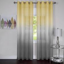 Tab Top Sheer Curtain Panels Magnificent Living Room Curtains And Sheers Scenarioacae Voile Tab