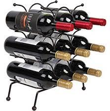 amazon com wood 10 bottle wine rack 10 bottle kitchen u0026 dining
