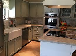kitchen remodel victoria falls quartzite countertops subway tile