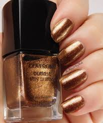 cover violet flicker seared bronze nail polish swatches