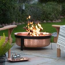 Copper Firepit Ember Copper Wood Burning Pit Hayneedle