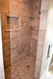 walk in shower designs for glass shower cabin partition walls white ceramic flooring tile