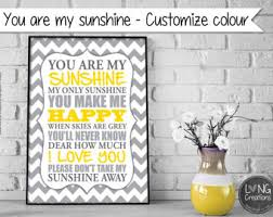 You Are My Sunshine Wall Decor You Are My Sunshine Etsy