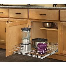 Lowes Kitchen Cabinet Shop Rev A Shelf 20 5 In W X 7 In H Metal 1 Tier Pull Out Cabinet