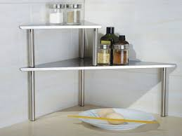 White Laminate Wood Flooring Stainless Steel Shelves Commercial White Cabinet On Combined Gray