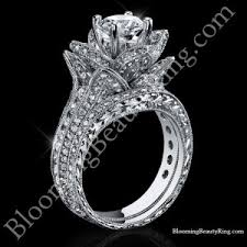 all flower engagement rings unique engagement rings for women by