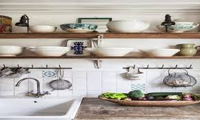 vintage country decorating ideas ikea kitchen shelves rustic open