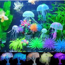 aquarium artificial coral jellyfish silicone fish tank