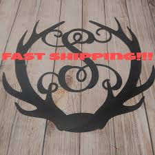 deer antler decor antler door hanger unfinished letter rustic