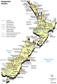 zealand on map map of zealand planetware