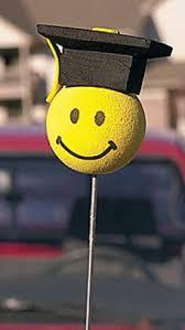 graduation smiley car antenna topper ropes